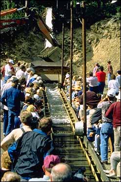 Eldorado gold mine sluice box